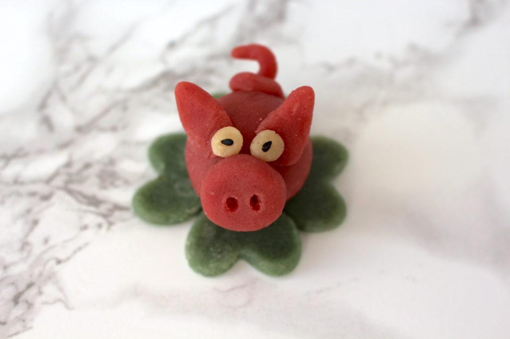 Marzipanschweinchen vegan diy Silvester