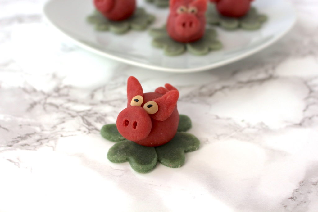Marzipanschwein vegan Silvester Glücksschweinchen