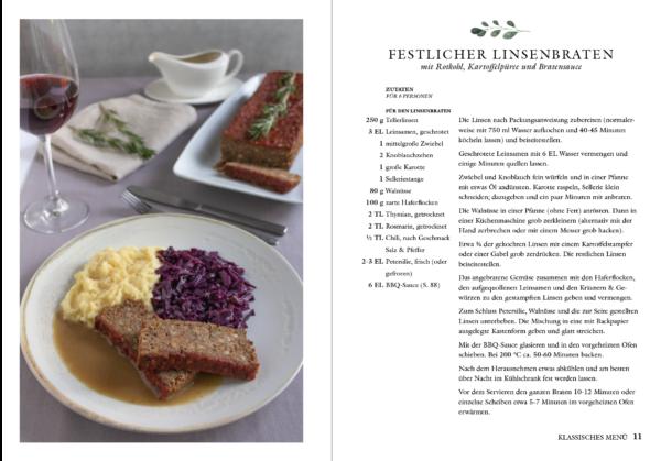 veganes Weihnachtskochbuch - Linsenbraten