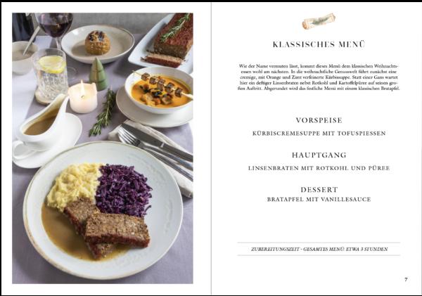 veganes Weihnachtskochbuch - klassisches Weihnachtsmenü vegan